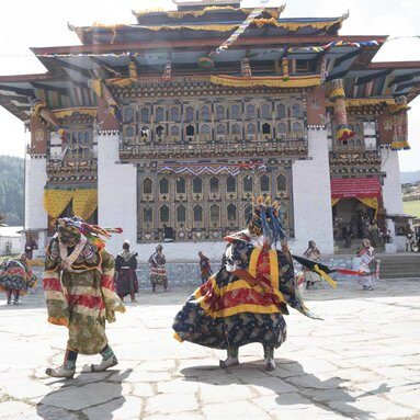 festival and dancing in bhutan
