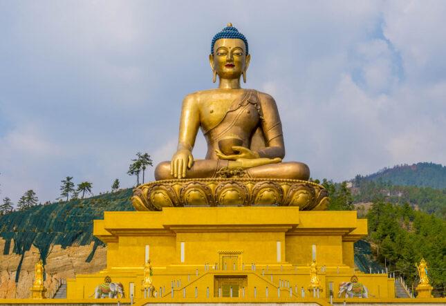 the Great Buddha Dordenma in Bhutan
