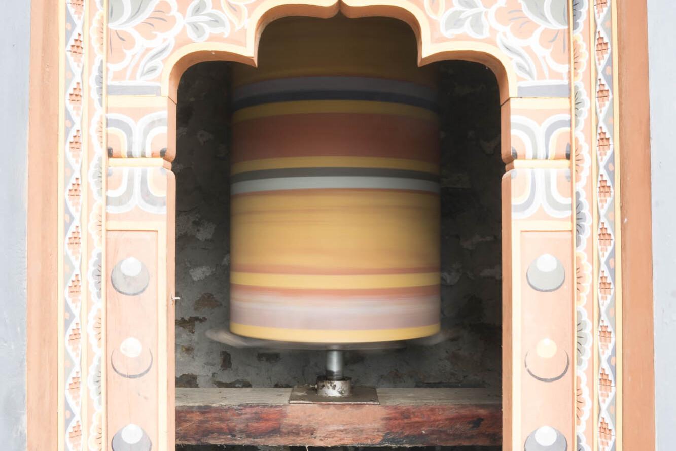 Bhutan prayer spinner